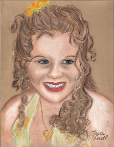 Young Lady - A Pastel Drawing